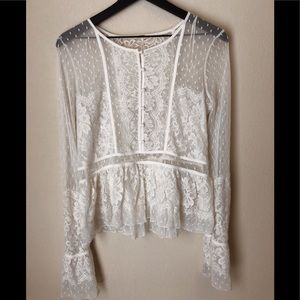 Free People lace top Size Small